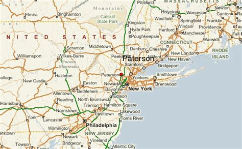 map of paterson new jersey paterson location guide