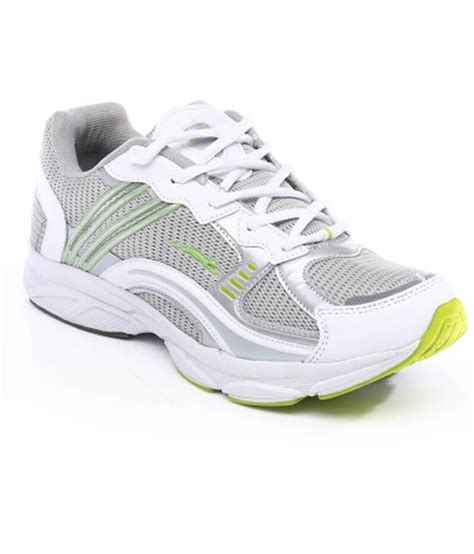 sport stags shoes stag white and gray green lacewalking sports shoe price in