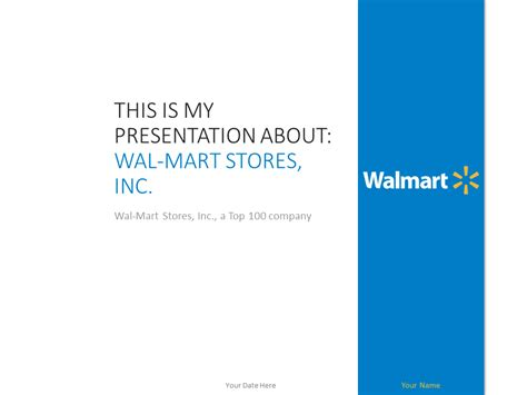 wal mart powerpoint template presentationgo com