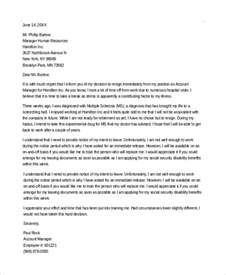 Resignation Letter Health Reasons by Sle Best Letter Of Resignation 9 Exles In Word Pdf