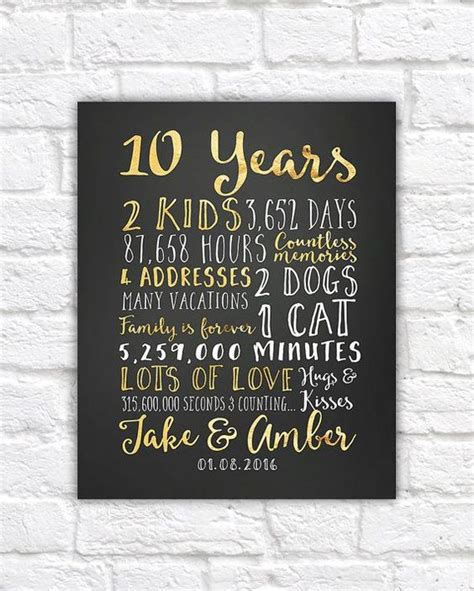 10 Year Anniversary Gift For Him - gifts for him wedding and anniversary gifts for on