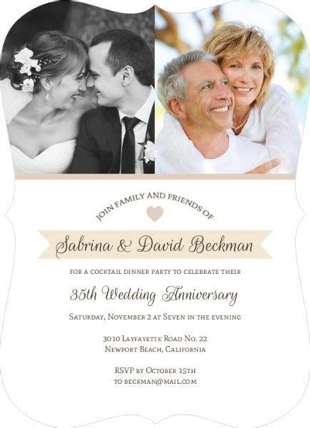 Wedding Anniversary Invitations by 1000 Ideas About Anniversary Invitations On