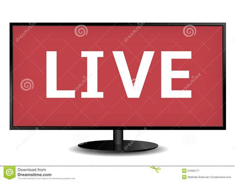tv live live tv stock image image of neon show broadcasting