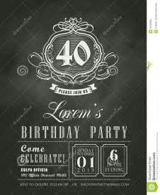 anniversary birthday invitation card chalk board