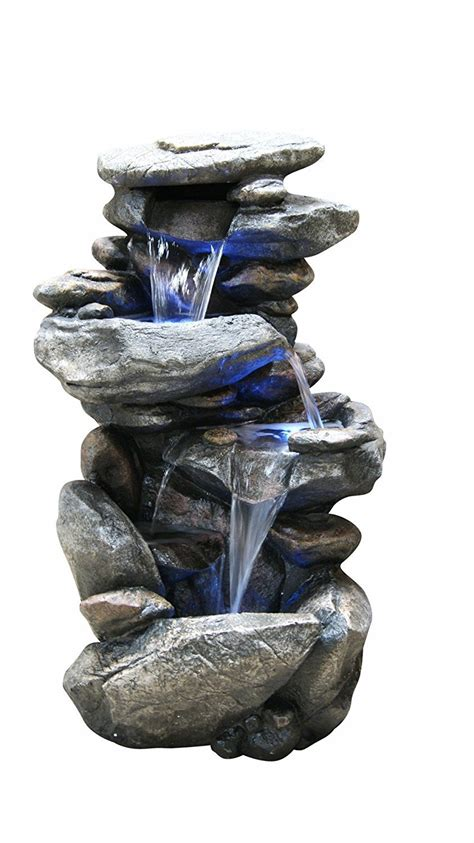 floor water fountain electric pump rock garden outdoor