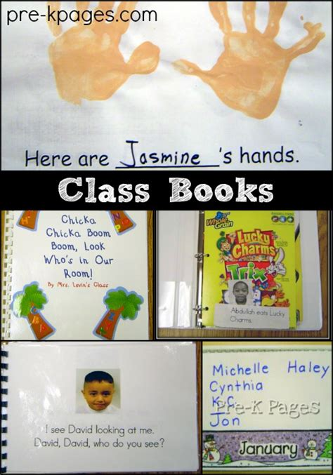 book themes for kindergarten how to make class books