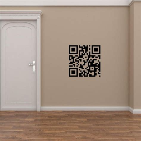 Wall Stiker Kode personalised qr code stickers wall stickers store uk