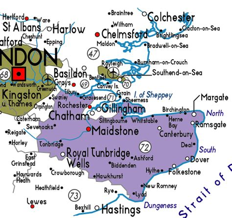map uk kent map of kent in useful information about kent