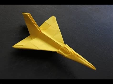 tutorial origami airplane how to make a cool paper plane origami instruction f106