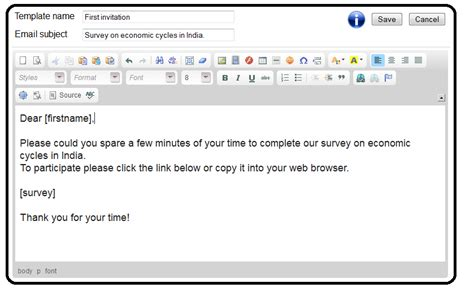 email template 100 free survey software email templates