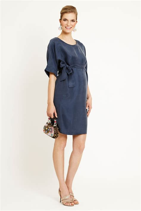 Dress Shanghai shanghai maternity dress with 3 4 sleeve and boat neckline