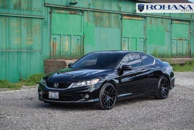"honda accord coupe on 20"" rohana rc26 matte black wheels"