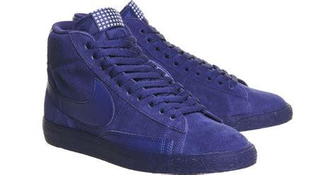 Nike Smith Suede Slip On Abu nike blazer hi suede vintage in blue for lyst