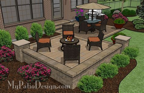 Images Of Patio Designs Medium Two Square Patio Tinkerturf