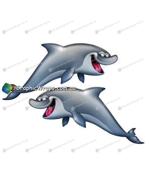 cartoon boat wraps cartoon dolphin graphic wraps