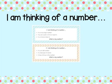 guess my number printable cards guess my number math activity i am thinking of a