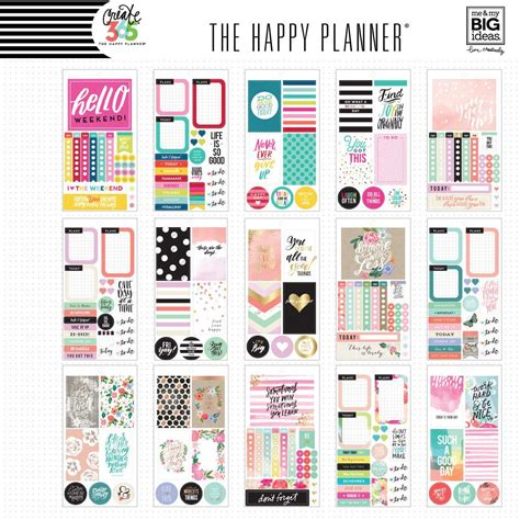 create 365 the happy planner sticker value pack color