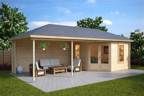 summer home garden room sophia with veranda 10m 178 44mm 3 5 x 8 m summer house 24
