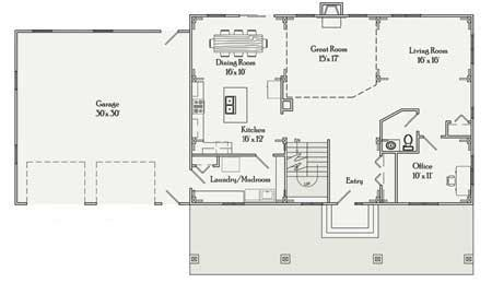 rectangular bungalow floor plans rectangular house plans 3 bedroom 2 bath simple