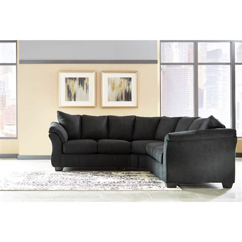ashley furniture sectional sofas price signature design by ashley darcy black contemporary