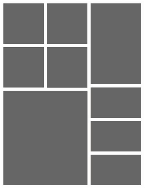 template no photoshop instant download 8 5x11 storyboard photographers template