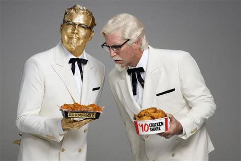 actors in kentucky fried chicken commercials kfc has two colonels in its first super bowl commercial