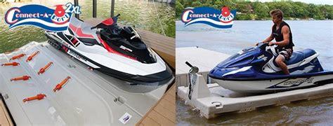 jet ski mount on pontoon boat 2000 series pwc docking personal water craft drive on dock