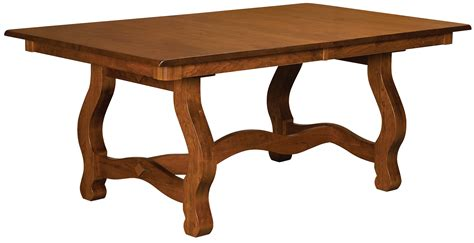 trestle dining room table carolina trestle dining room table amish custom furniture