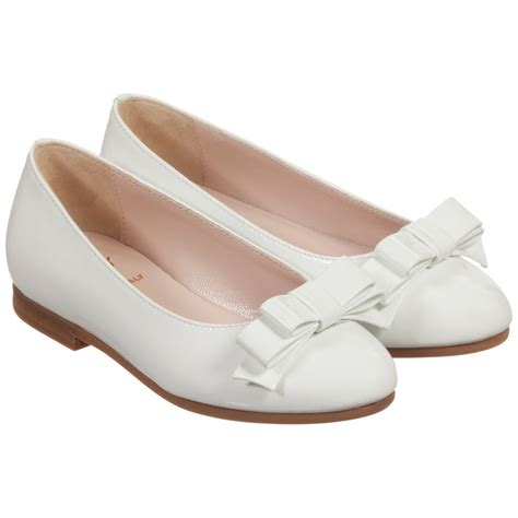 white patent leather shoes il gufo white patent leather bow shoes childrensalon