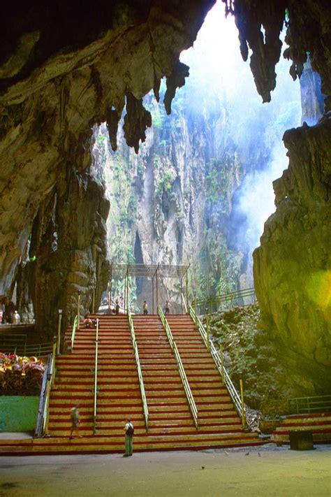 pin  material space      batu caves places