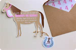 keeping my cents 162 162 162 cowgirl pony party invitations