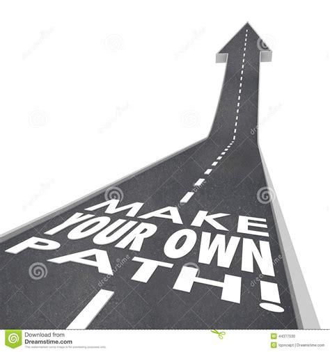 make your own path words 3d road success unique challenge