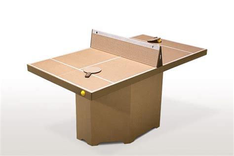 misure di un tavolo da ping pong un tavolo da ping pong in cartone per l ufficio darlin