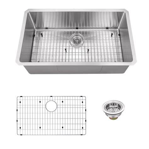 Kitchen Sink Co Ipt Sink Company Undermount 32 In 16 Stainless Steel Single Bowl Kitchen Sink In Brushed