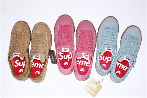 nike sb supreme blazer supreme x nike sb blazer low gt collection sneaker freaker