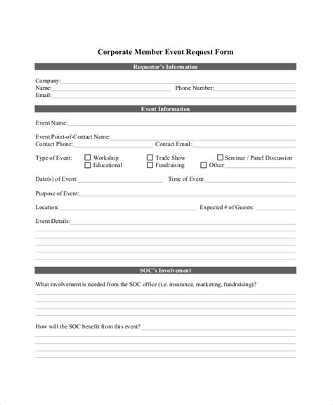 conference room request form template 14 sle event request forms sle forms