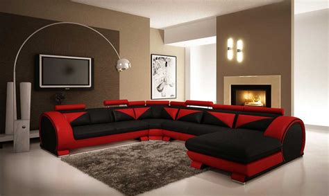 red leather sofa living room ideas black living room furniture to create your own style