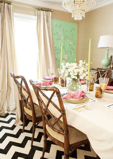 Dining Room With Chevron Rug Black And White Chevron Rug Beautiful Mix Dining Room