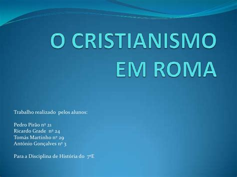 O cristianismo em roma