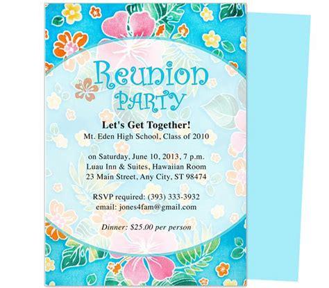 free reunion invitation templates 12 best images about printable family and class reunion