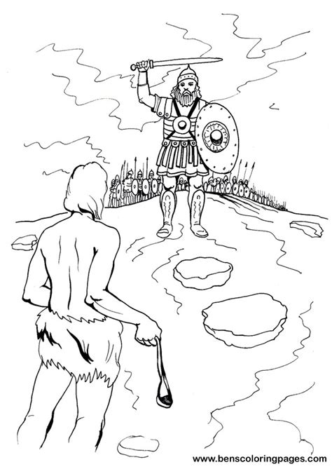 Coloring Page Goliath by David And Goliath Coloring Page Az Coloring Pages