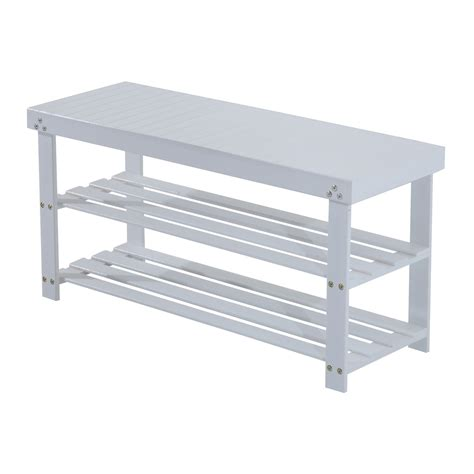 bench with rack white entryway shoe rack with bench design decofurnish