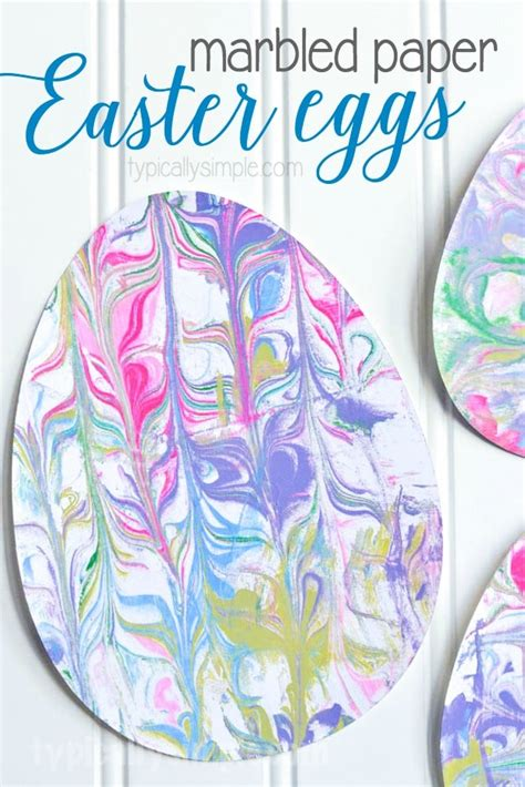 How To Make Marbled Paper - marbled paper easter eggs typically simple