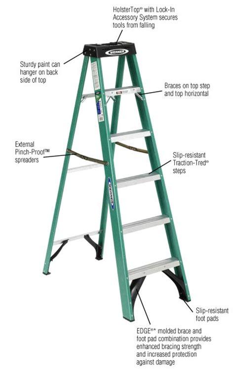 werner fiberglass step ladder load capacity type ii duty rating indoor outdoor ebay