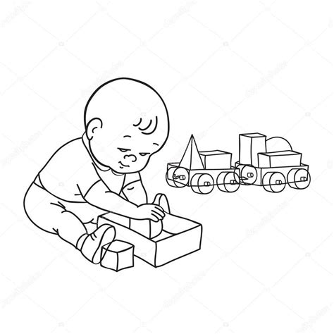 Galerry baby toy coloring page