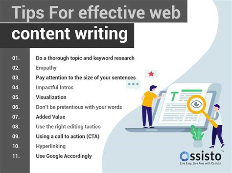 write great web content tips effective web