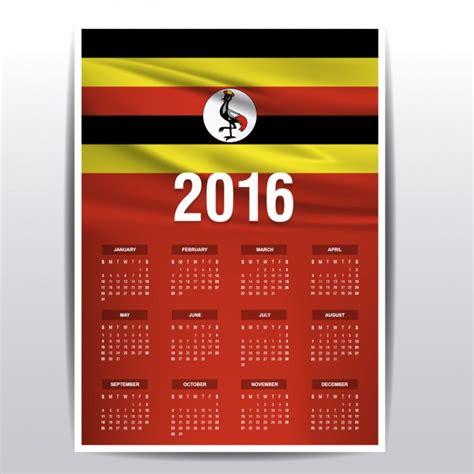 Uganda Calendario 2018 Calend 225 De Uganda 2016 Baixar Vetores Gr 225 Tis