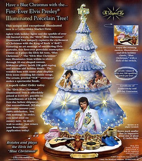 the elvis blue christmas tree whoa blue christmas