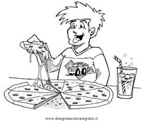 alimenti da colorare disegno pizza 5 alimenti da colorare