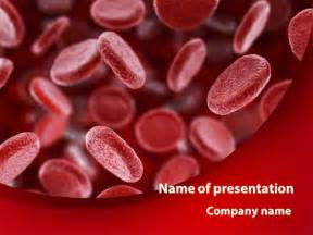 Red Blood Cells Stream Presentation Template For Powerpoint And Keynote Ppt Star Blood Powerpoint Template